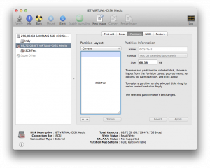 Disk Utility with iSCSI target