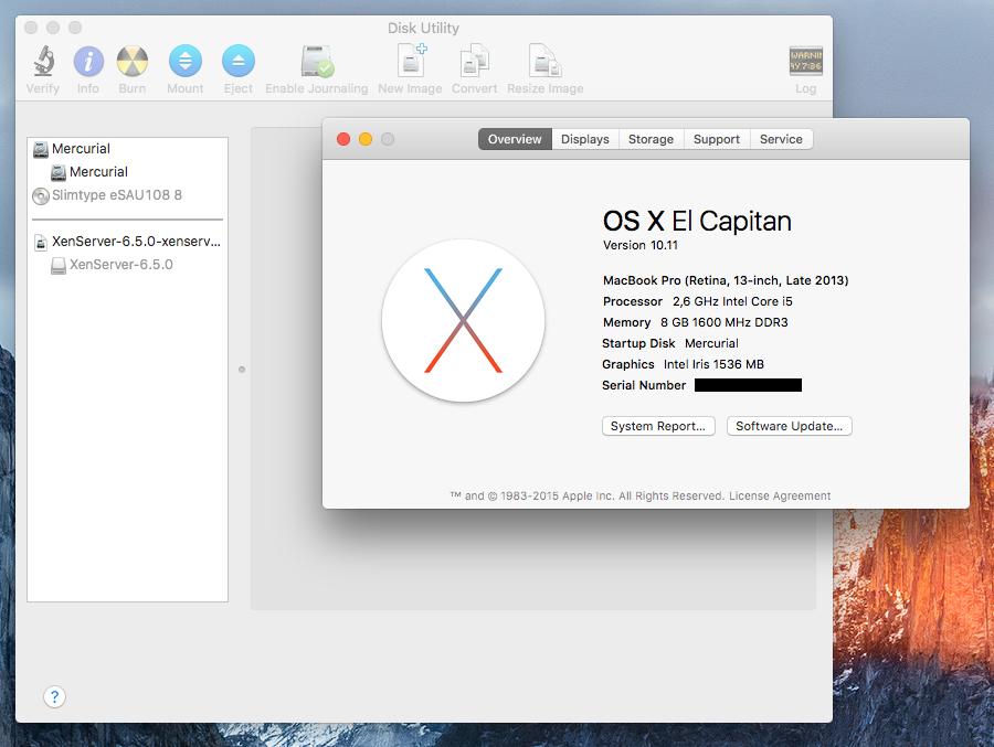 Restore old Disk Utility in OS X El Capitan | Justus Beyer